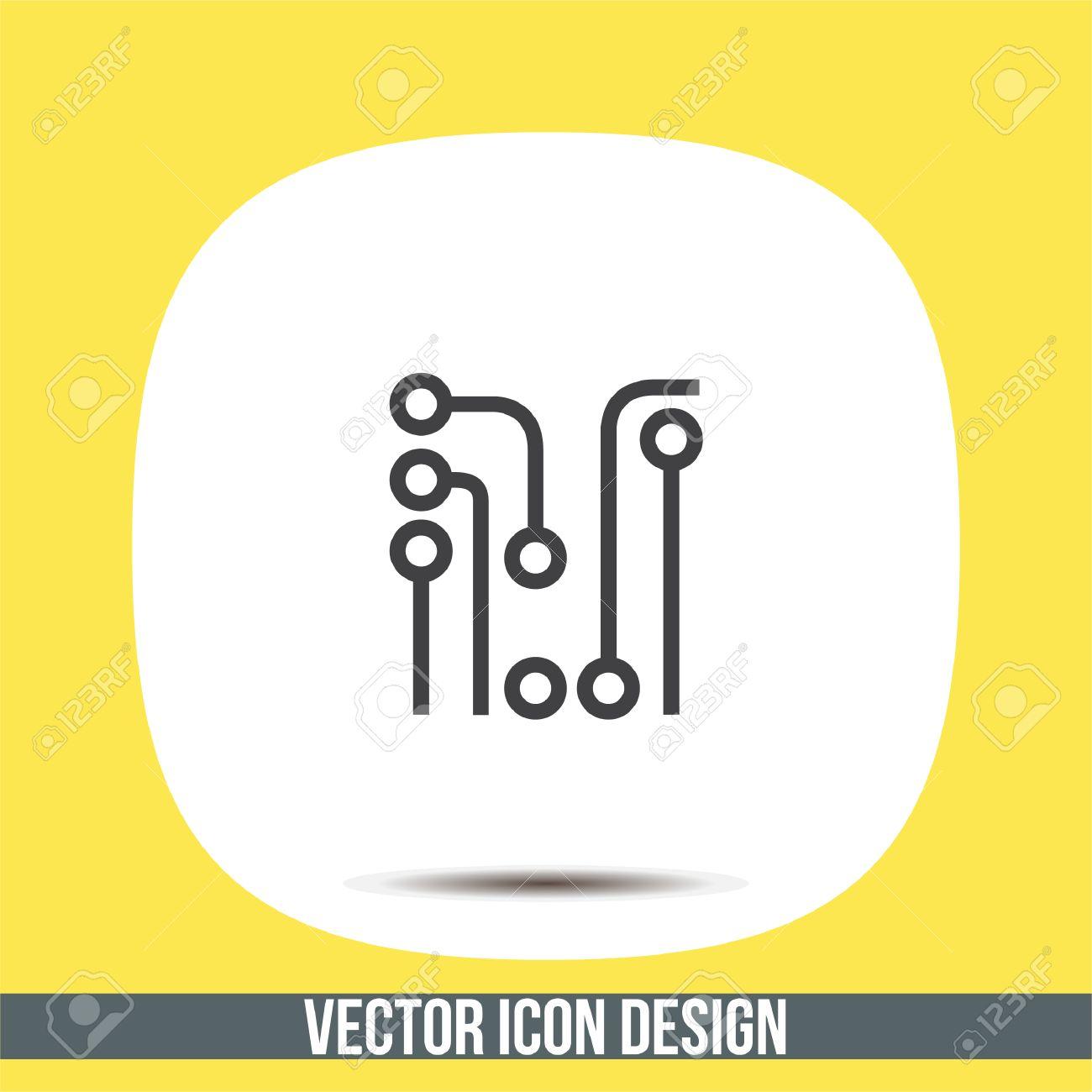 Circuit Board Vector Icon. Solder Sign. Electric Wires Symbol ...