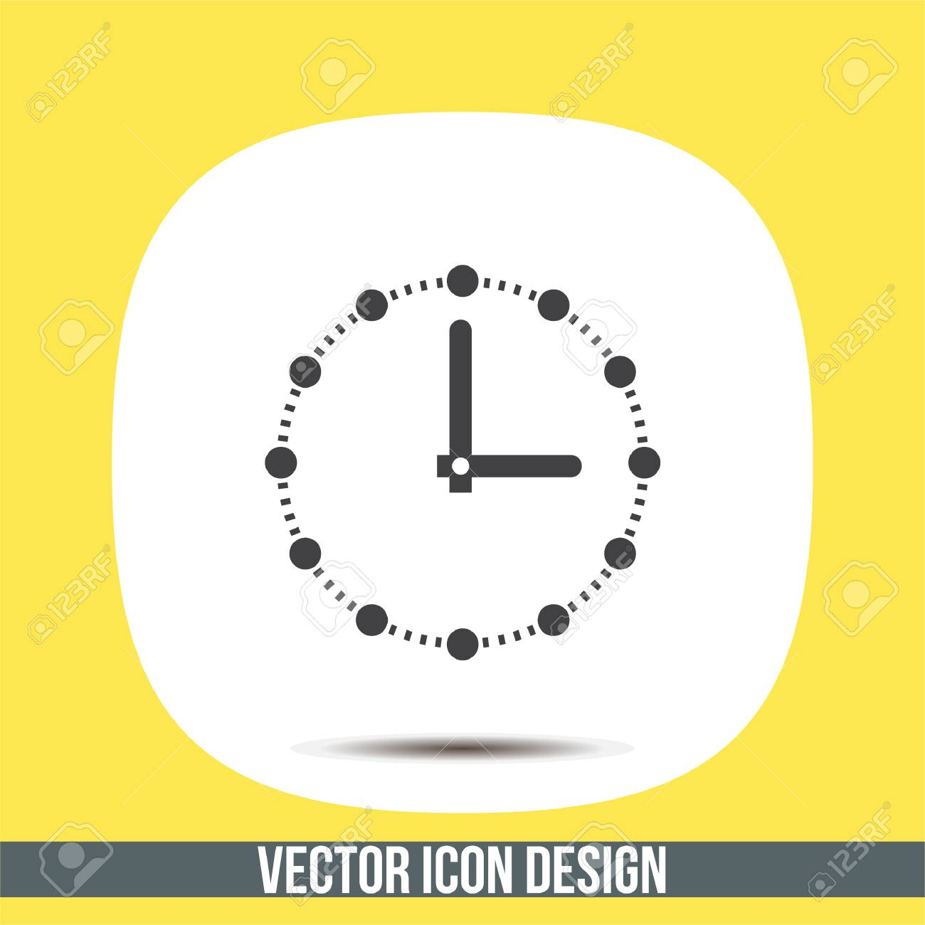 Clock With Dots Vector Icon Time Shower Sign Ticker Symbol