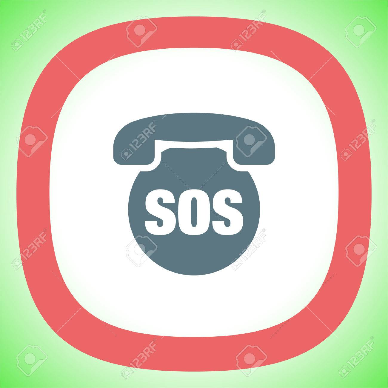SOS Phone Vector Icon. Emergency Contact Sign. EMS Cell Service ...