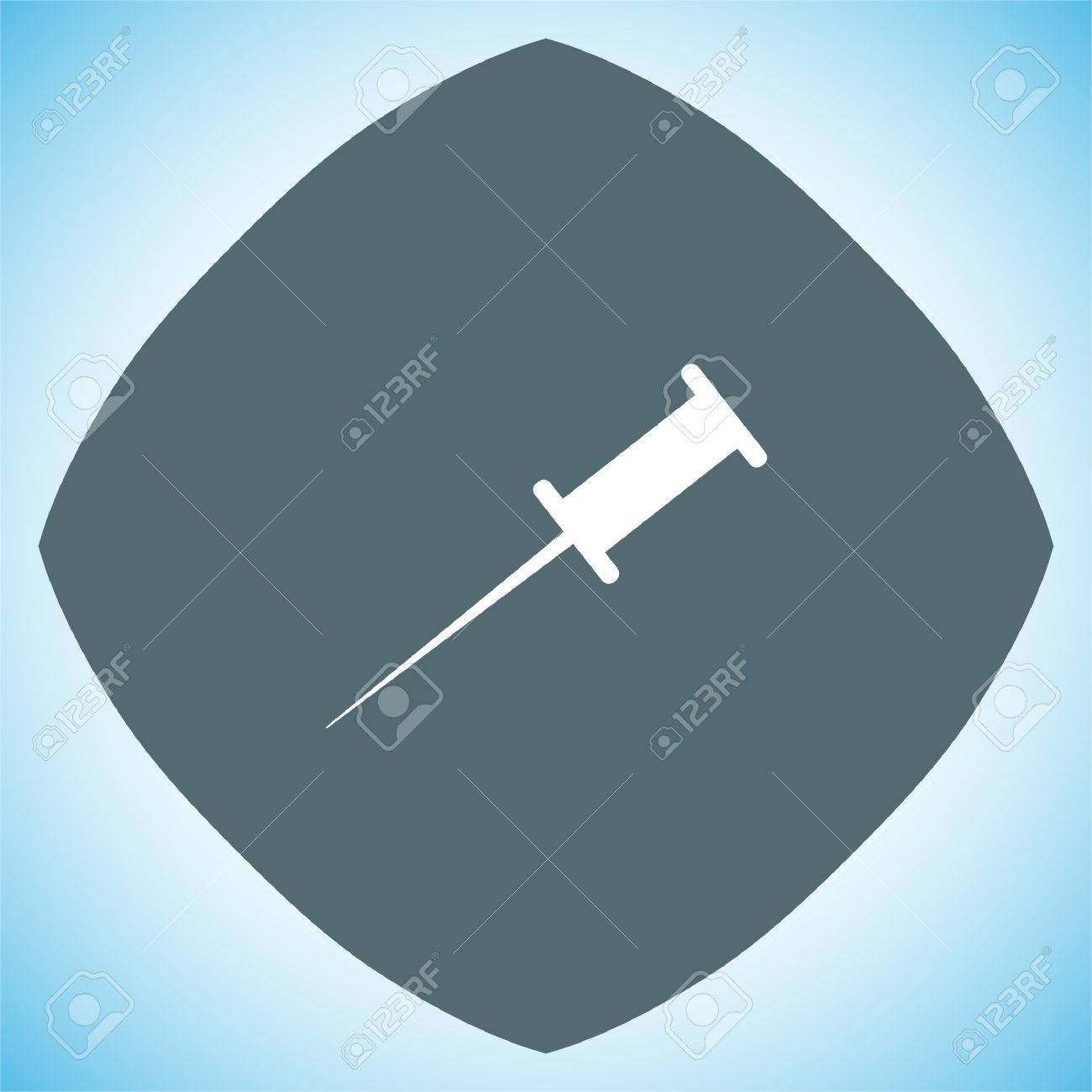 Pushpin vector icon. Needle sign. Bulletin board note symbol - 66839069