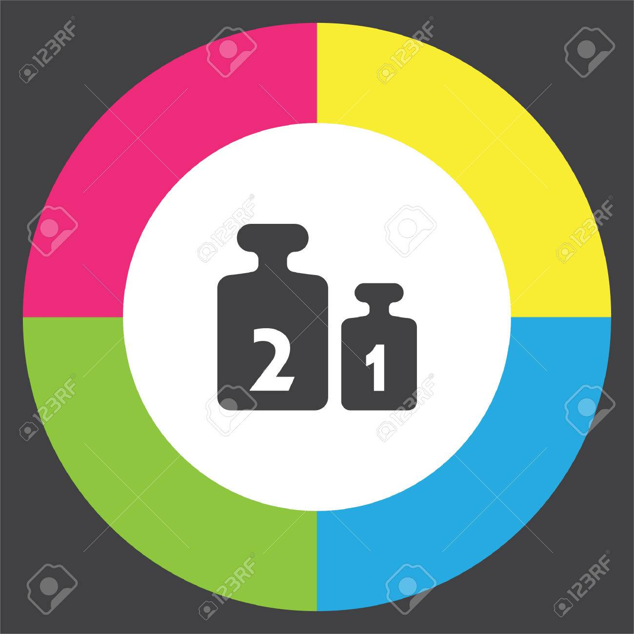 Weight For Scales Vector Icon Balance Weight Set Sign Calibration