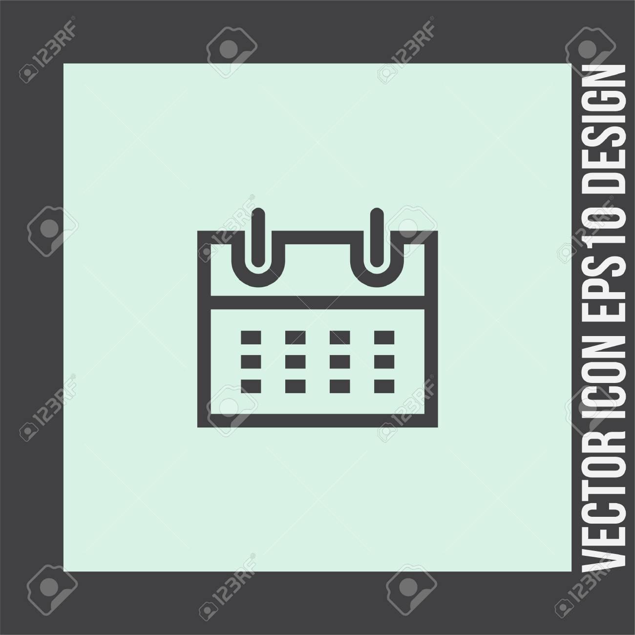 Simbolo Calendario.Icona Del Segno Di Calendario Linea Vettoriale Segno Dell Organizzatore Simbolo Di Promemoria Dell Ufficio