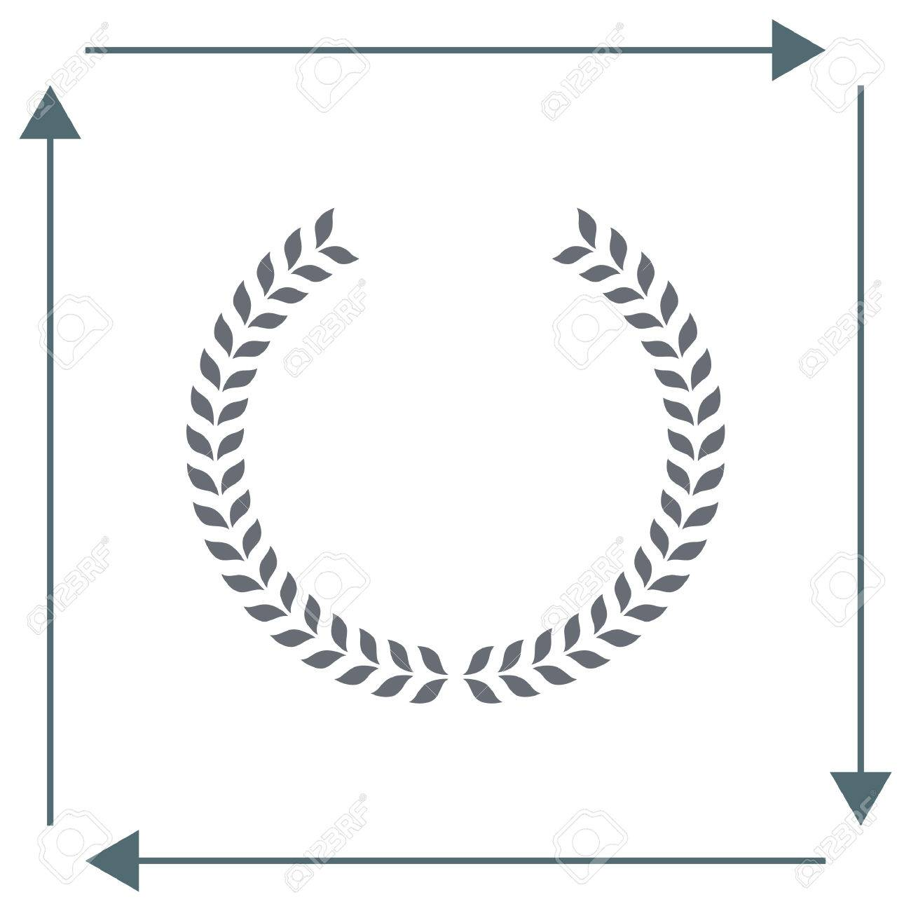 Laurel Wreath Vector Icon Caesar Sign Rome Symbol Stock
