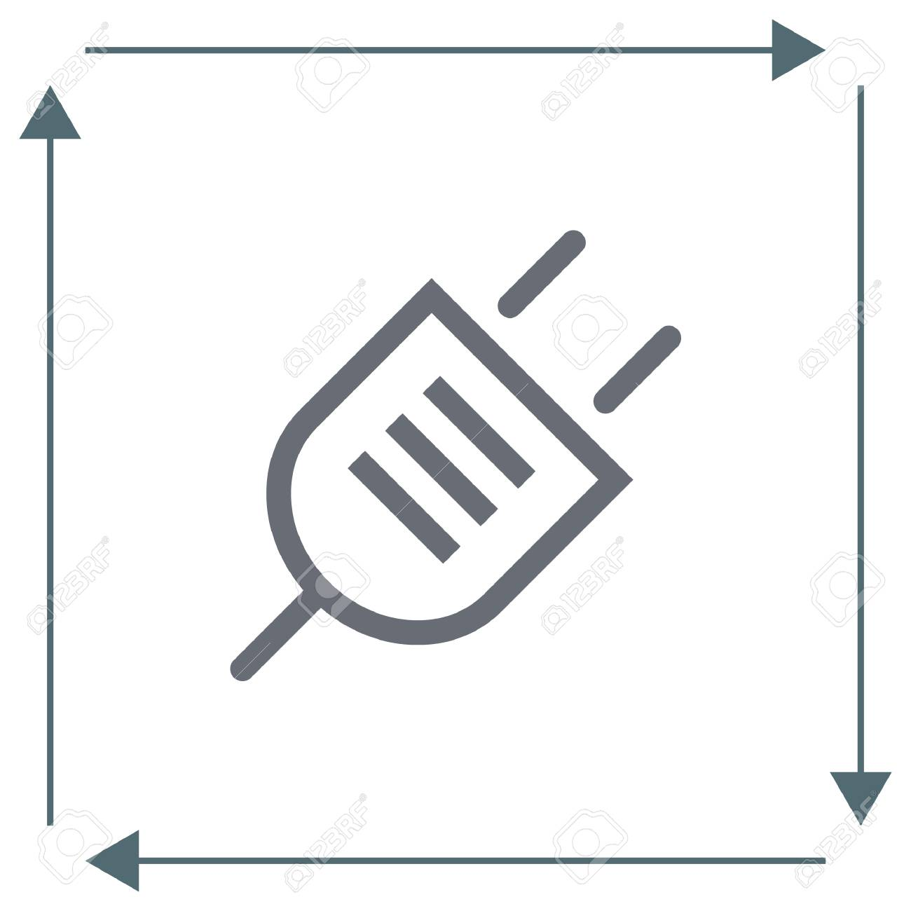 Power Plug Sign Line Vector Icon. Electric Plug Icon. Electricity ...