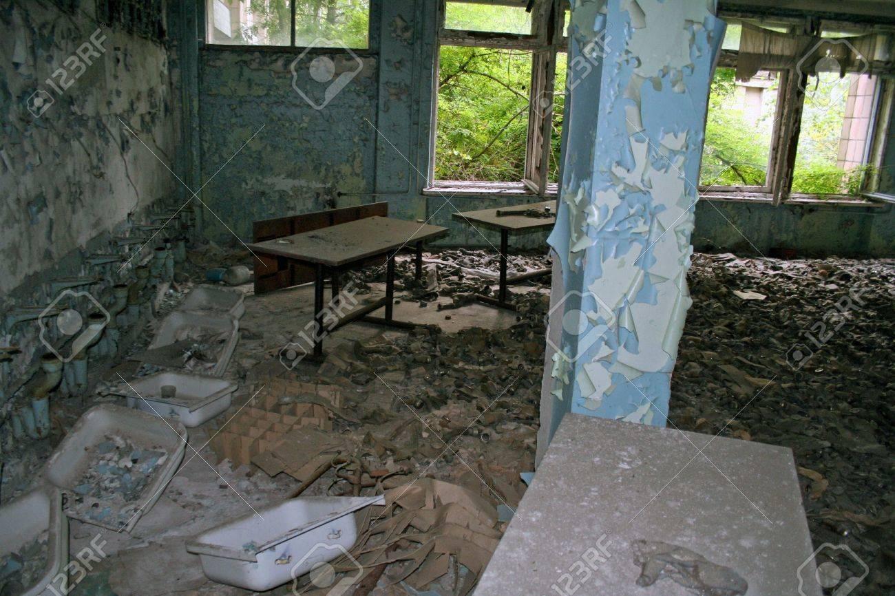 Gasmasks in dead city, Chernobyl  Stock Photo - 18479233