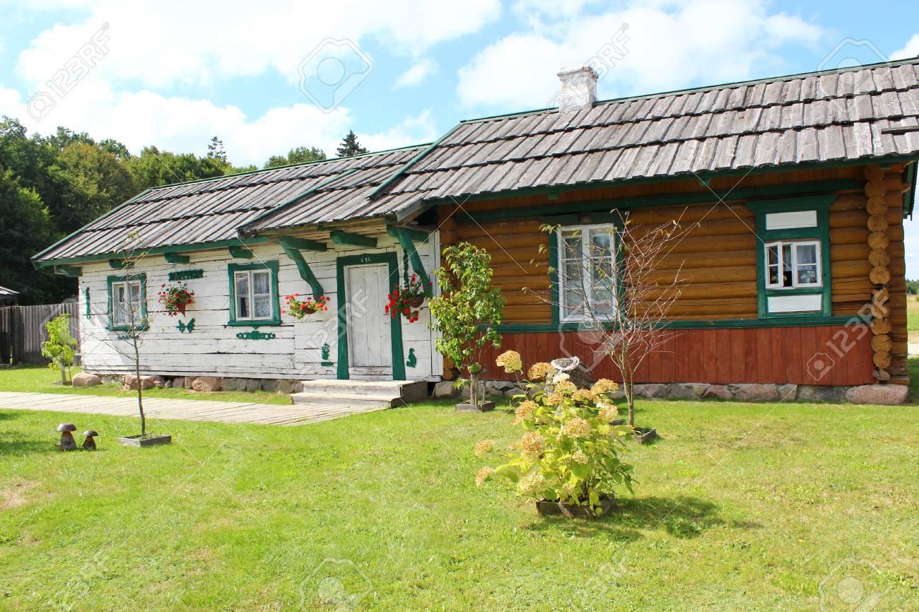 Traditonal houses in Podlasie, Poland - 33479318