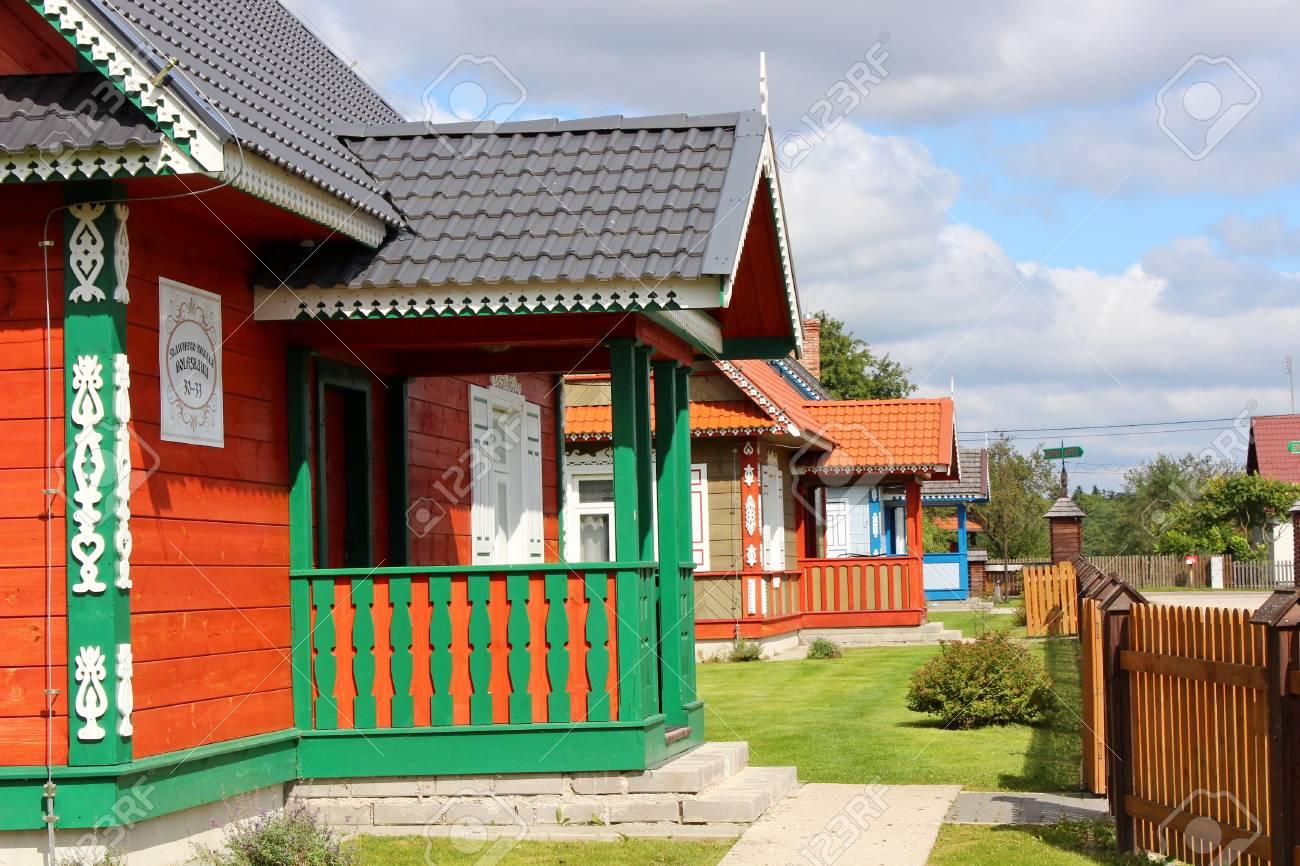 Traditonal houses in Podlasie, Budy, Poland - 33325433