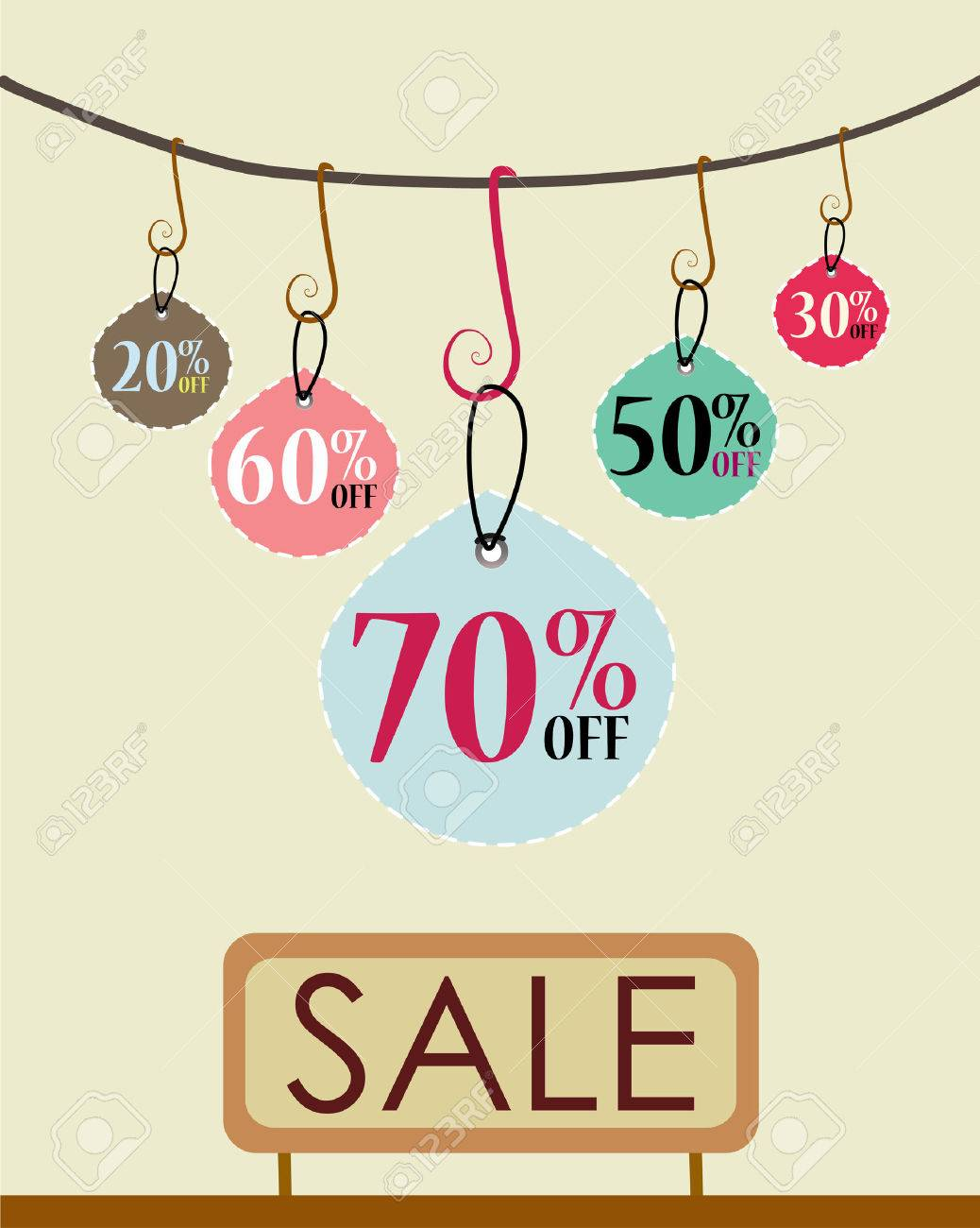 Sales Tags - Sale Poster Template Royalty Free Cliparts, Vectors ...