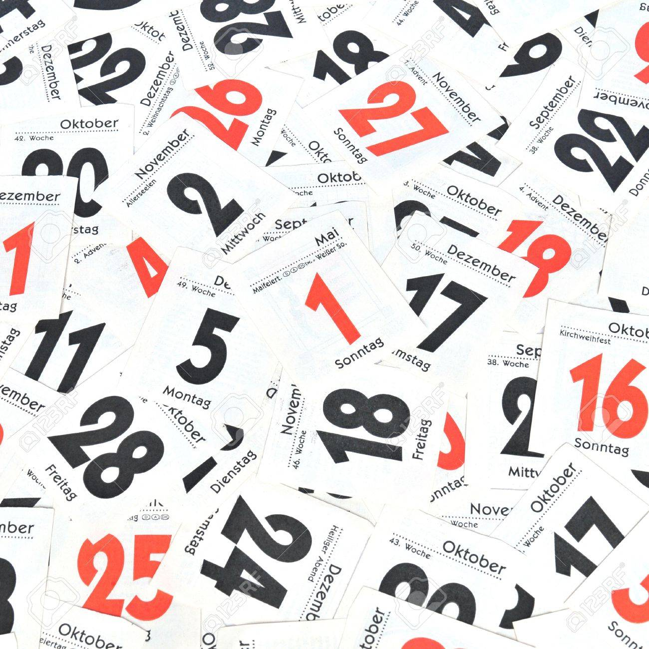 Calendar Days Stock Photo, Picture And Royalty Free Image. Image ...