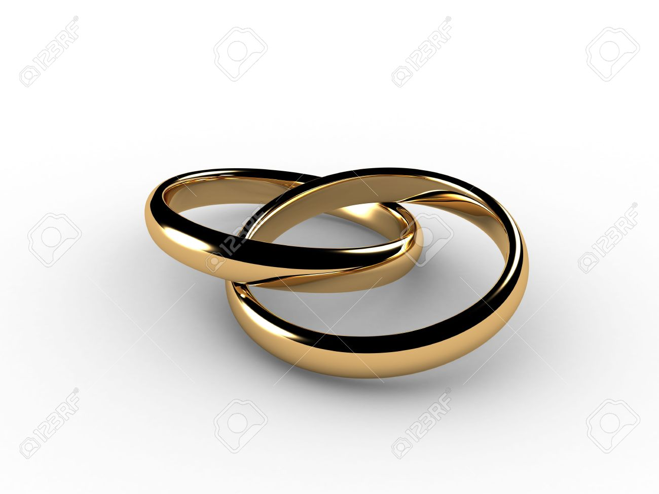 3d wedding rings joined together i had to simulate physics to