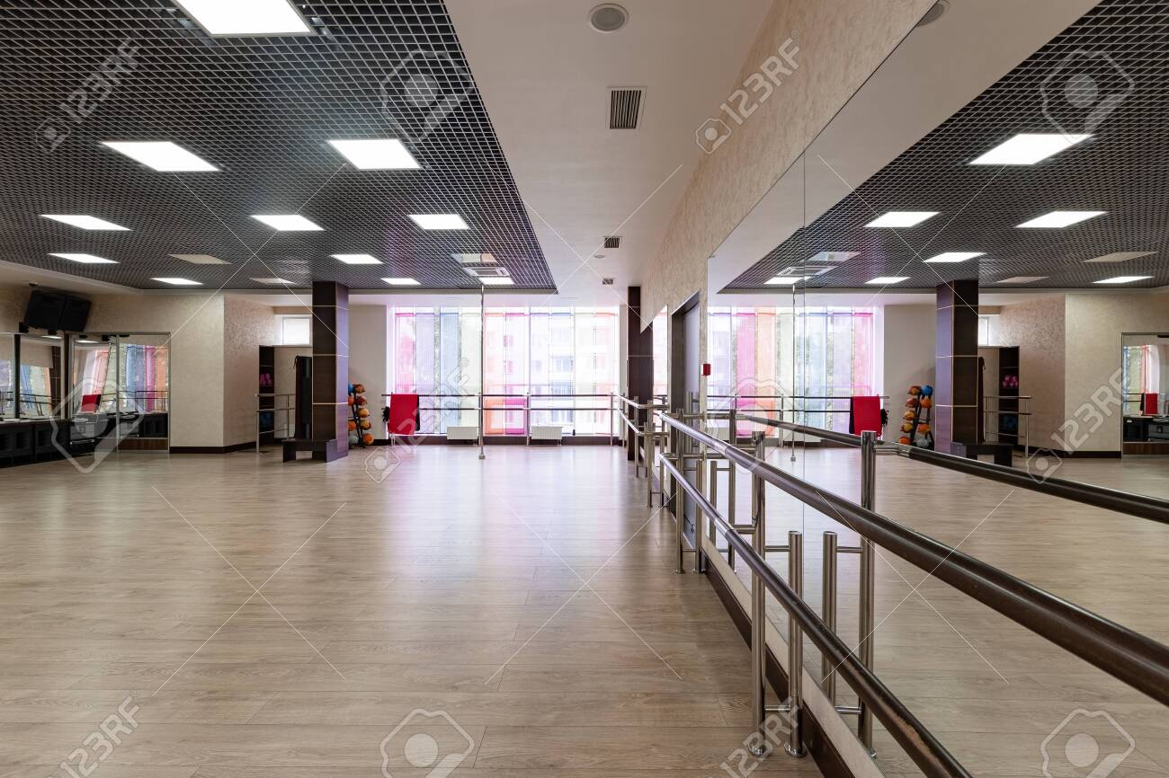 Group Fitness Room Modern Interior Design Fitness Workout Stock Photo Picture And Royalty Free Image Image 139897147