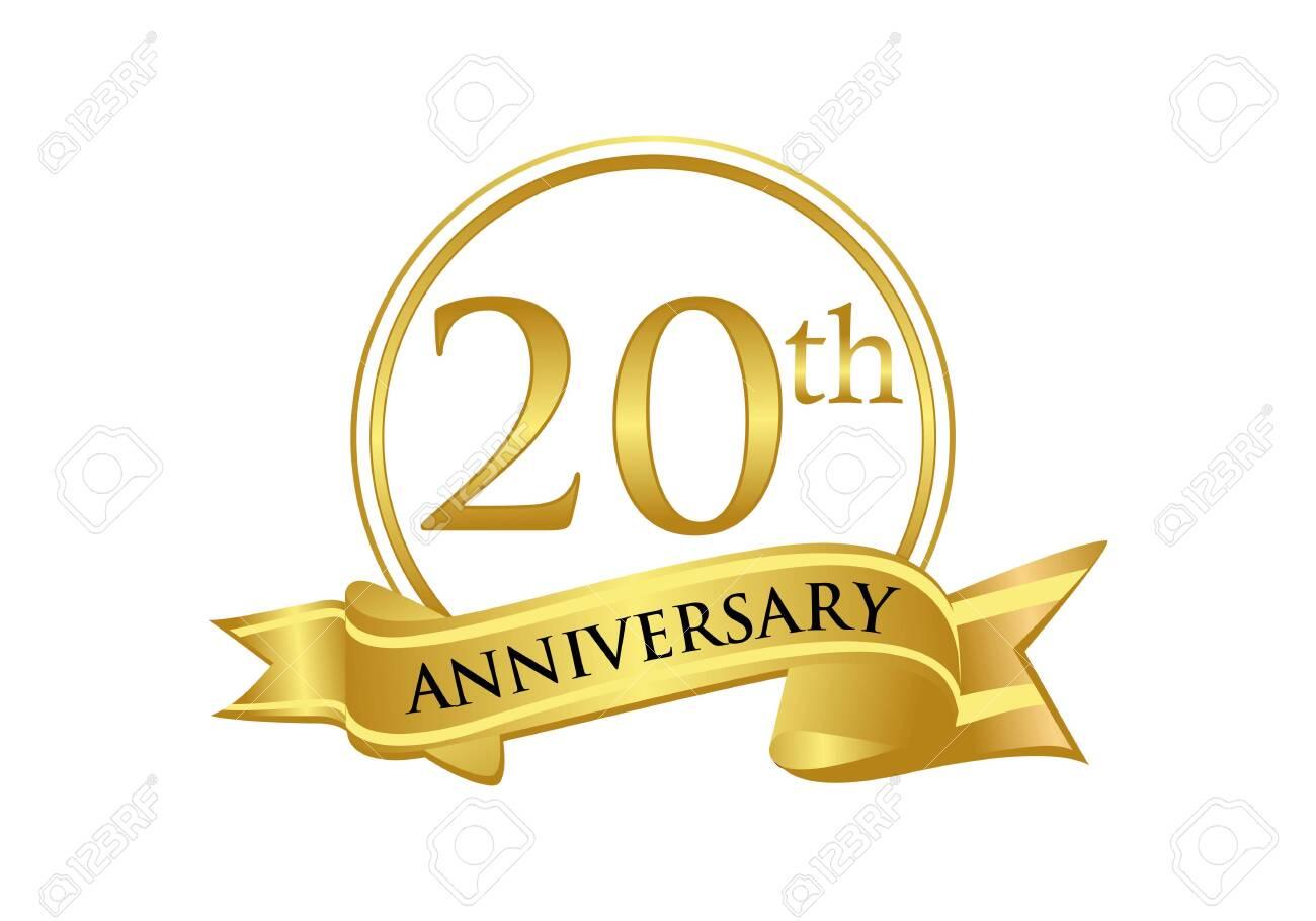 20th Anniversary Celebration Logo Vector Royalty Free Cliparts Vectors And Stock Illustration Image 118903365