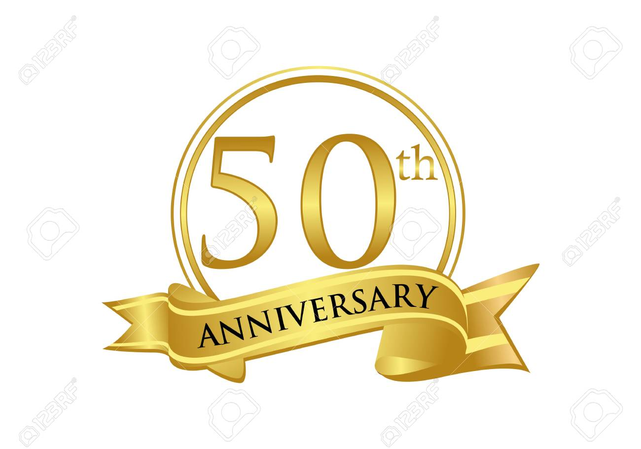 50th Anniversary Celebration Logo Vector Royalty Free Cliparts, Vectors,  And Stock Illustration. Image 118968961.