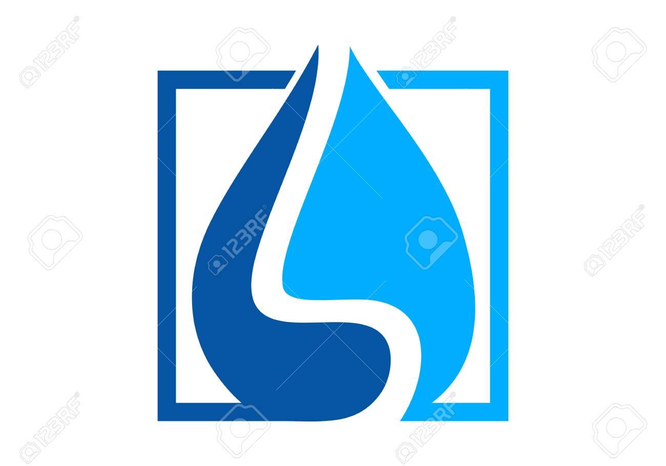 Waterproofing, water drop logo vector - 120417291