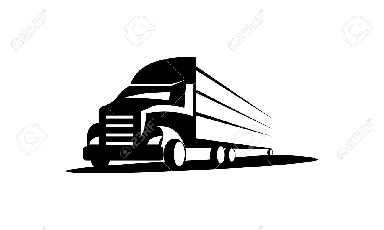 Truck Logo, cargo logo, delivery cargo trucks, Logistic logo pack - 129095878