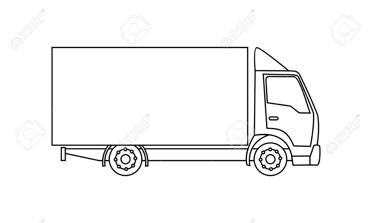 Truck Coloring Book Transportation To Educate Kids Learn Colors Royalty Free Cliparts Vectors And Stock Illustration Image 136848082
