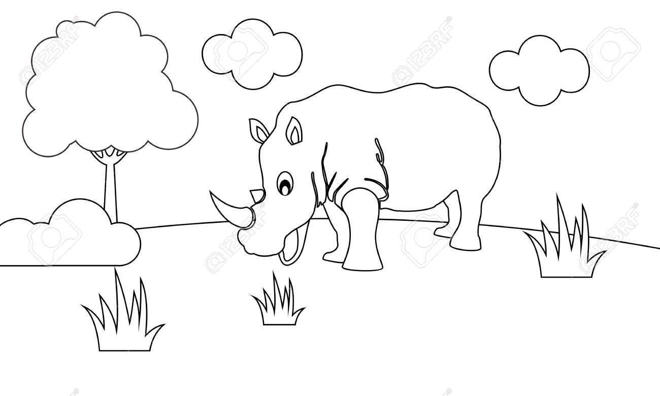 - Coloring Book Animals To Educate Kids. Learn Colors Pages Royalty