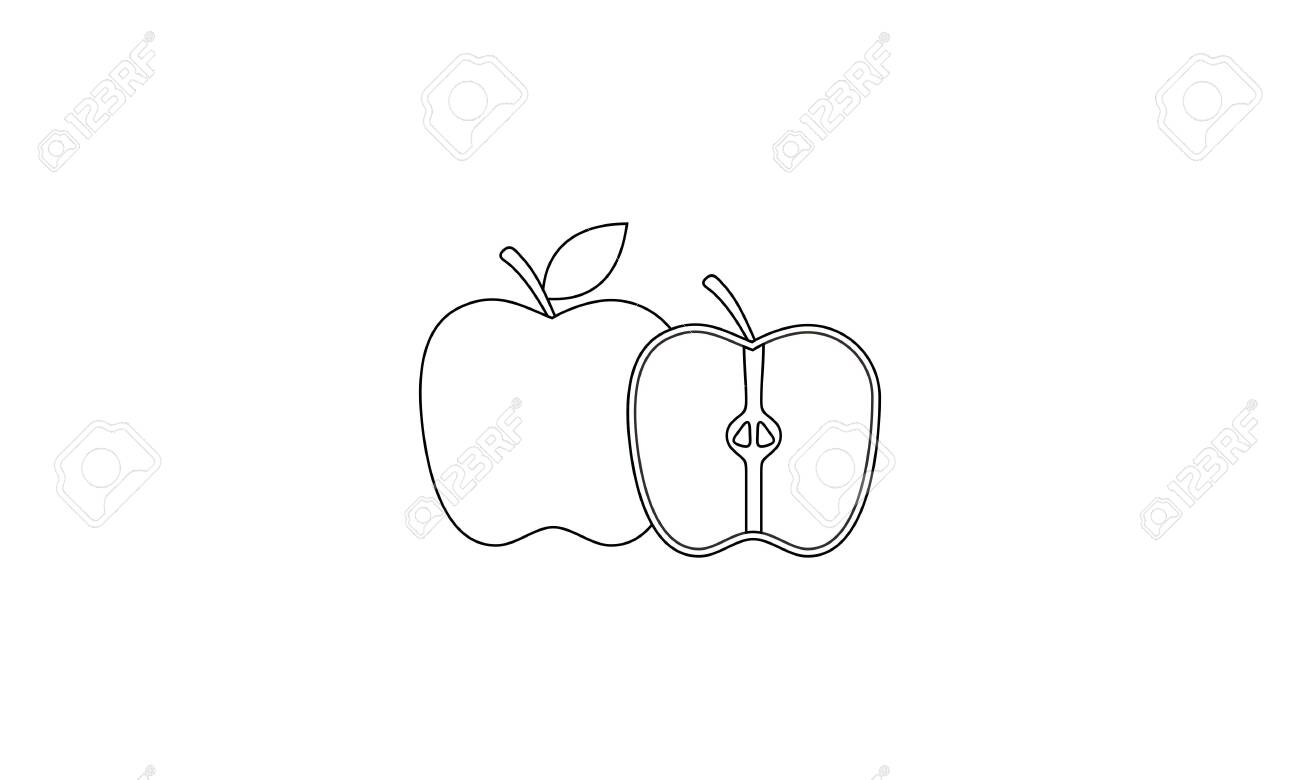 Coloring Book Fruit To Educate Kids Learn Colors Pages Royalty Free Cliparts Vectors And Stock Illustration Image 137932838