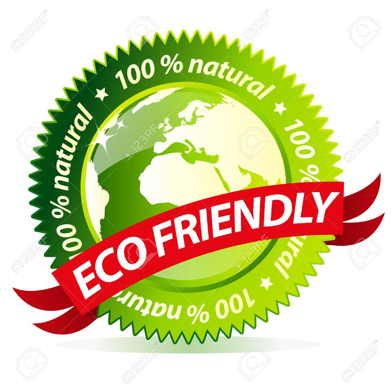 Eco friendly earth natural sign Stock Vector - 8628969