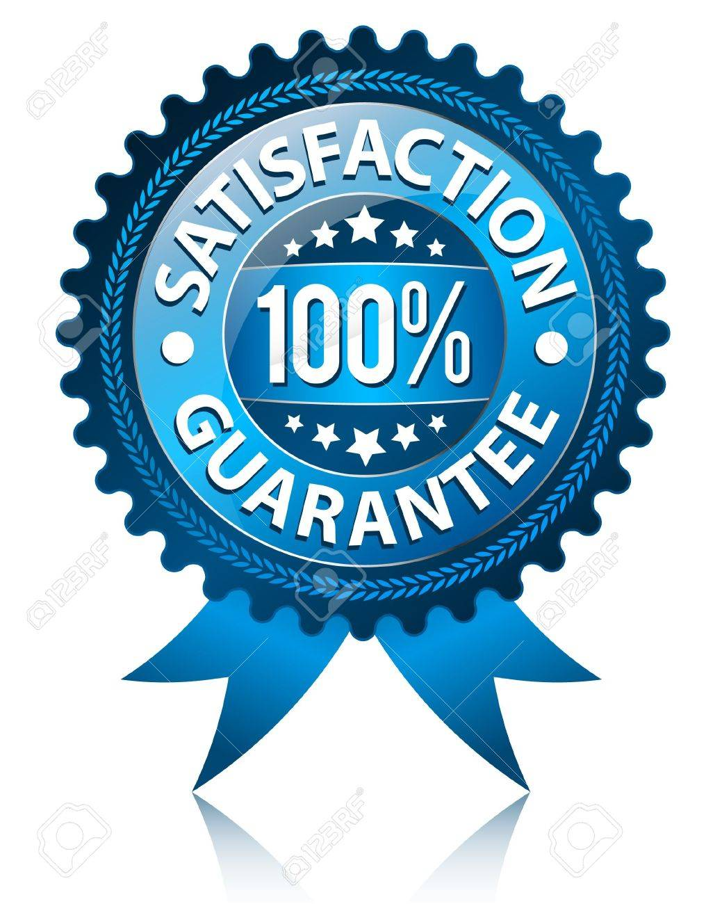 Satisfaction Guarantee Label Stock Vector - 9649001