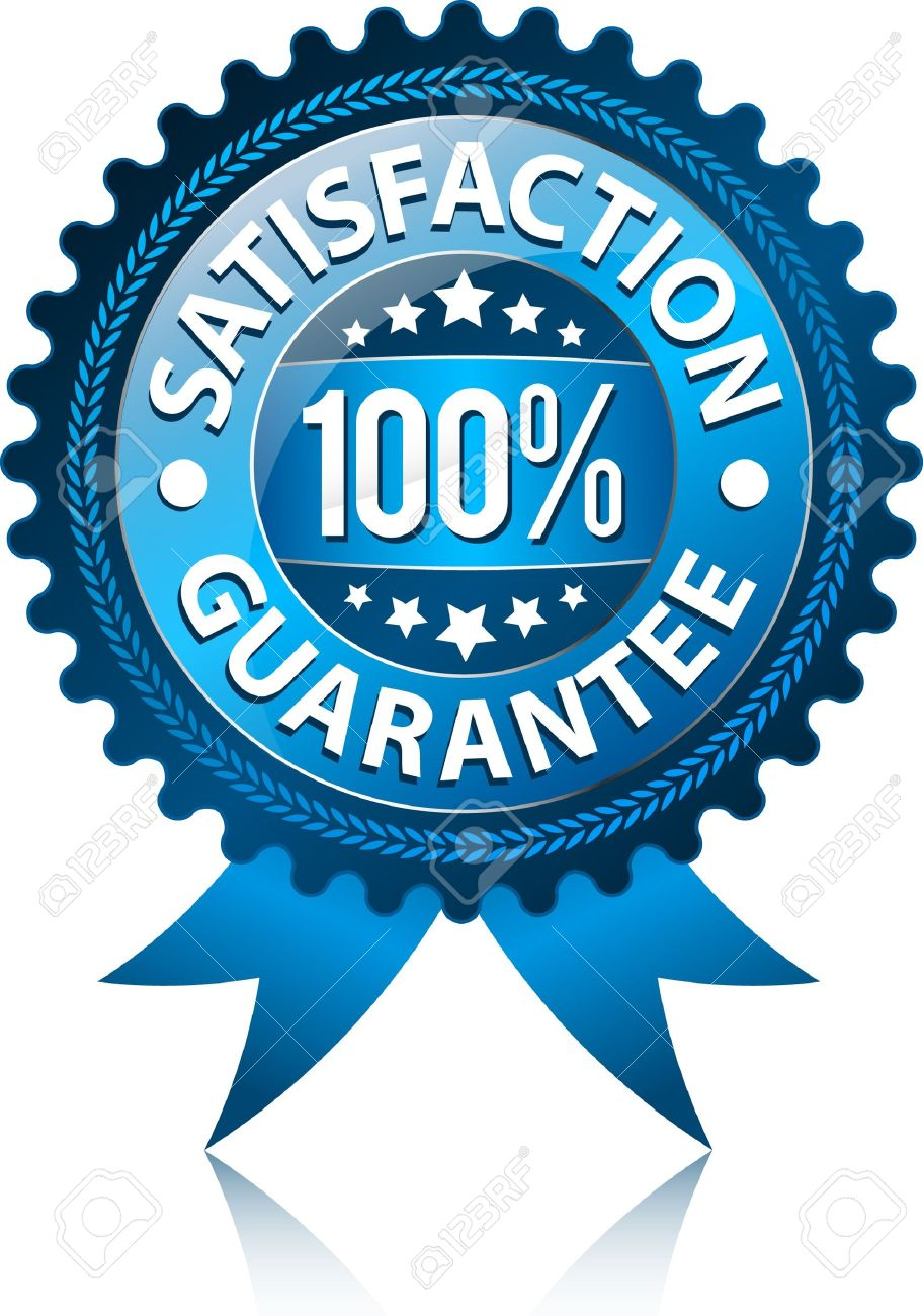 2f3028a2fb77 100% Satisfaction Guaranteed Sign Stock Vector - 9702949