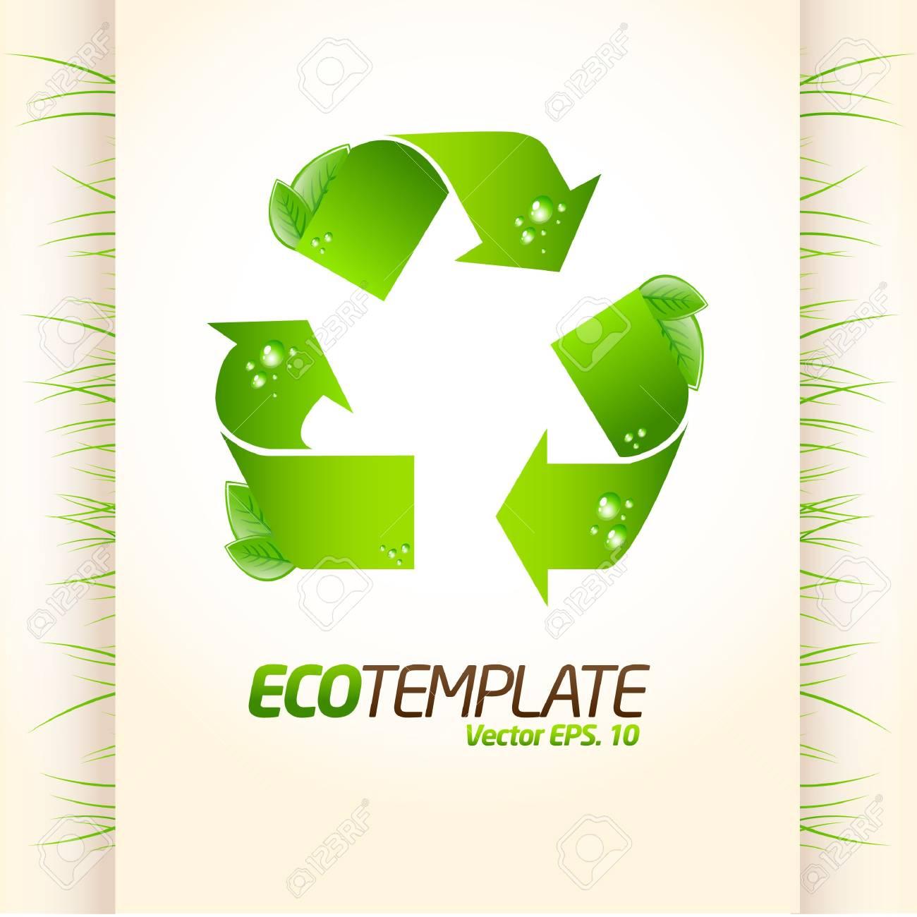 Green eco template 1 Stock Vector - 10087822
