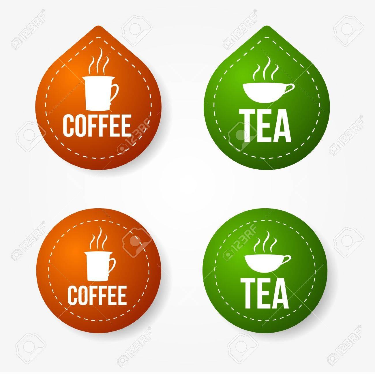 Чай кофе наклейка