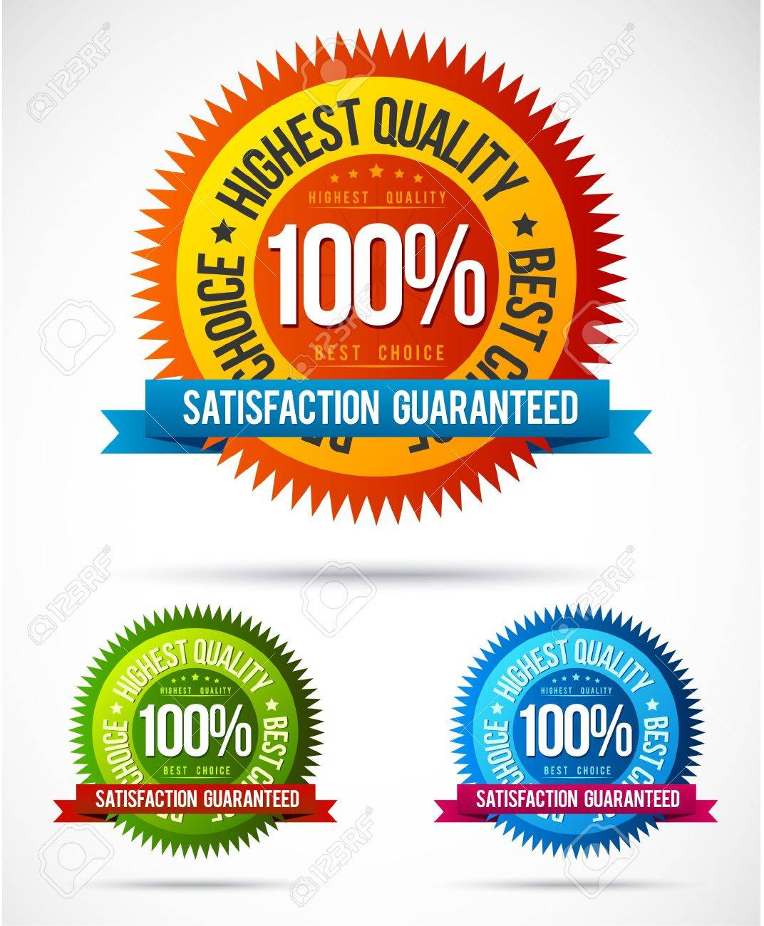 Finest quality colorful badge and sticker collection Stock Vector - 10908994