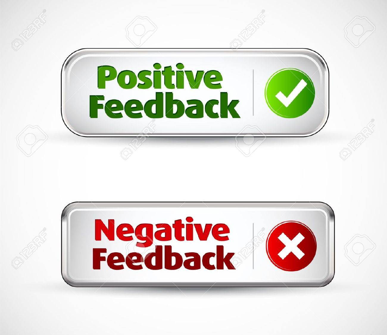 Positive and negative feedback colorful banner buttons Stock Vector - 10908997