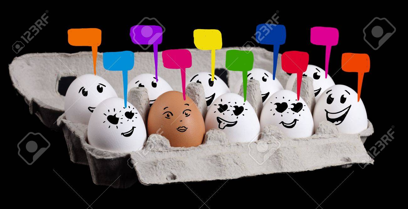 Eggs with happy smiley faces on valentines day theme Stock Photo - 11985373