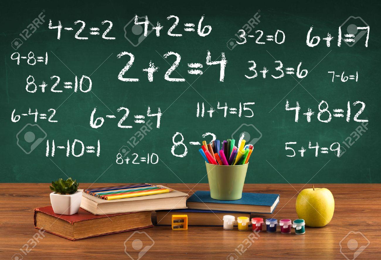 Pour En Revenir A Concept D Ecole Avec Tableau Noir Plein De