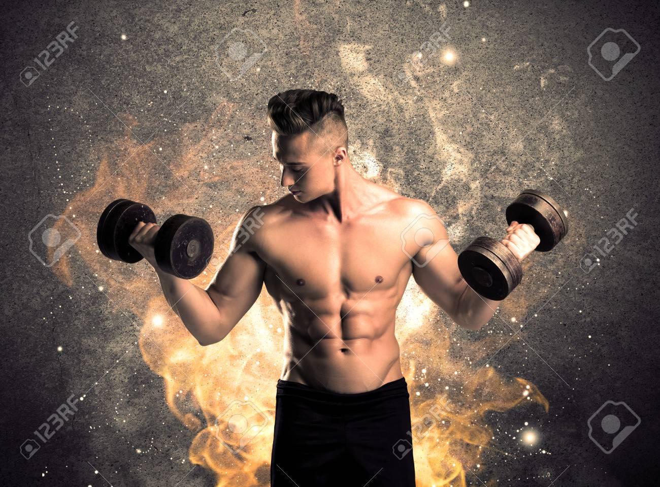 brennende mann nackt