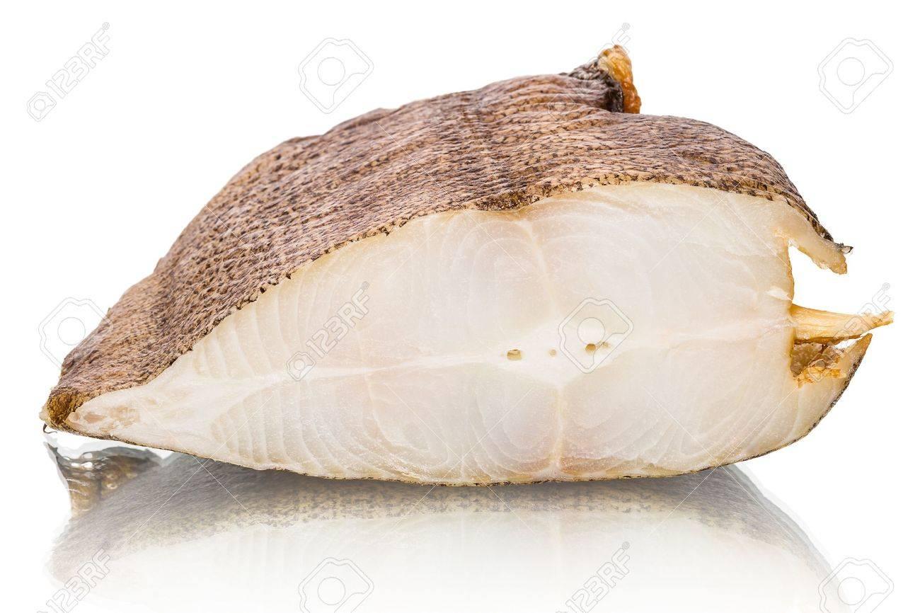 Smoked halibut isolated on white background Stock Photo - 17120899