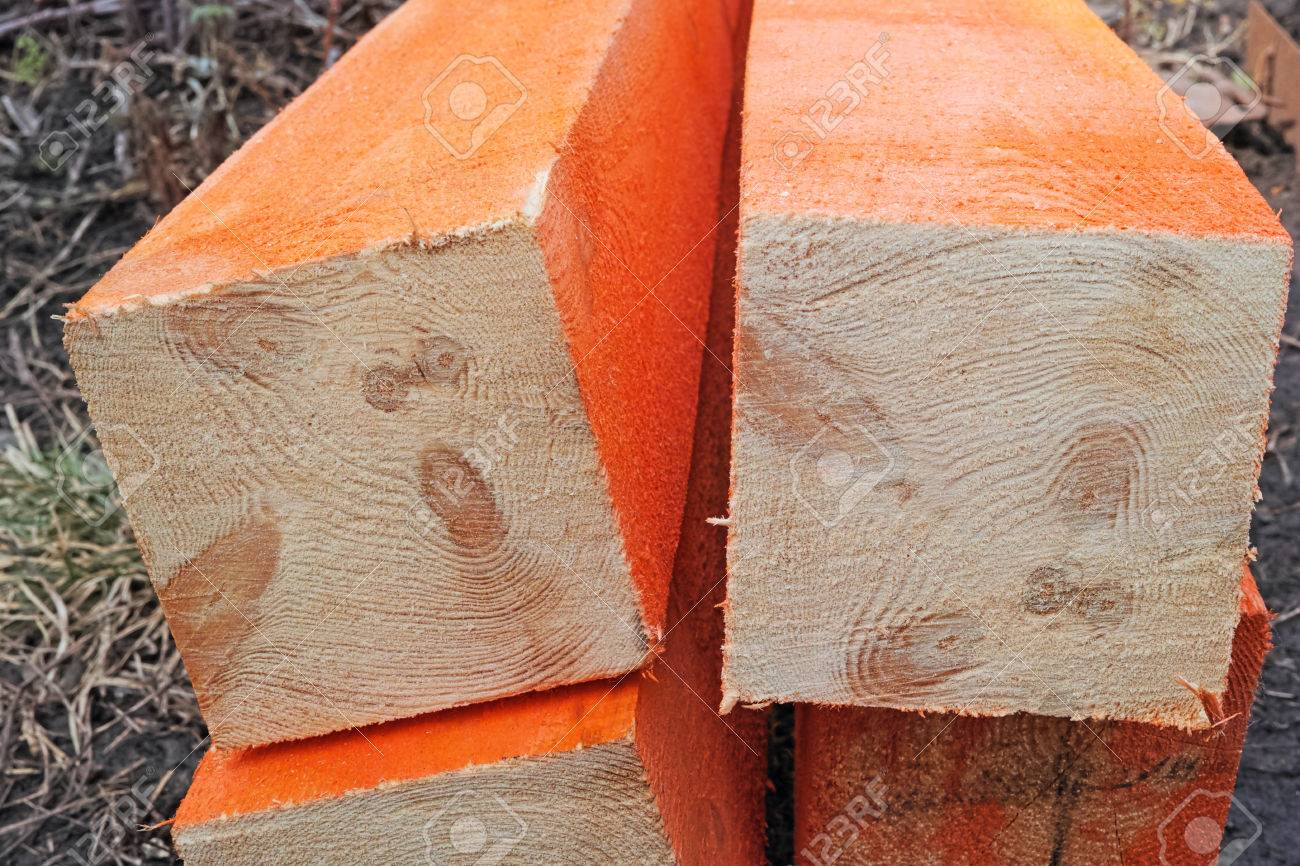 Holz Holz Vor Feuchtigkeit Geschutzt Und Faulnis Lizenzfreie Fotos