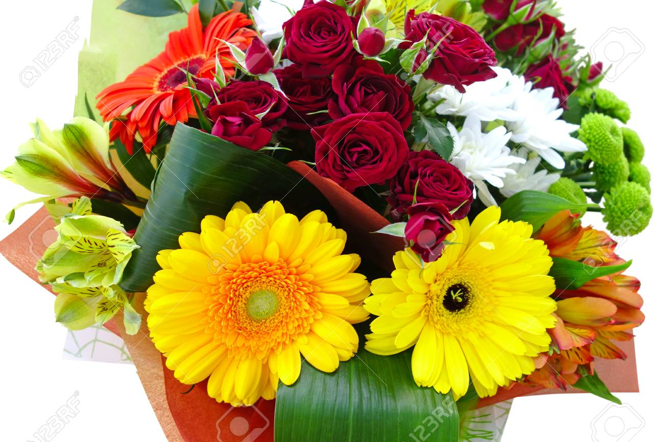 Large beautiful bouquet of different flowers closeup stock photo large beautiful bouquet of different flowers closeup stock photo 80304153 izmirmasajfo