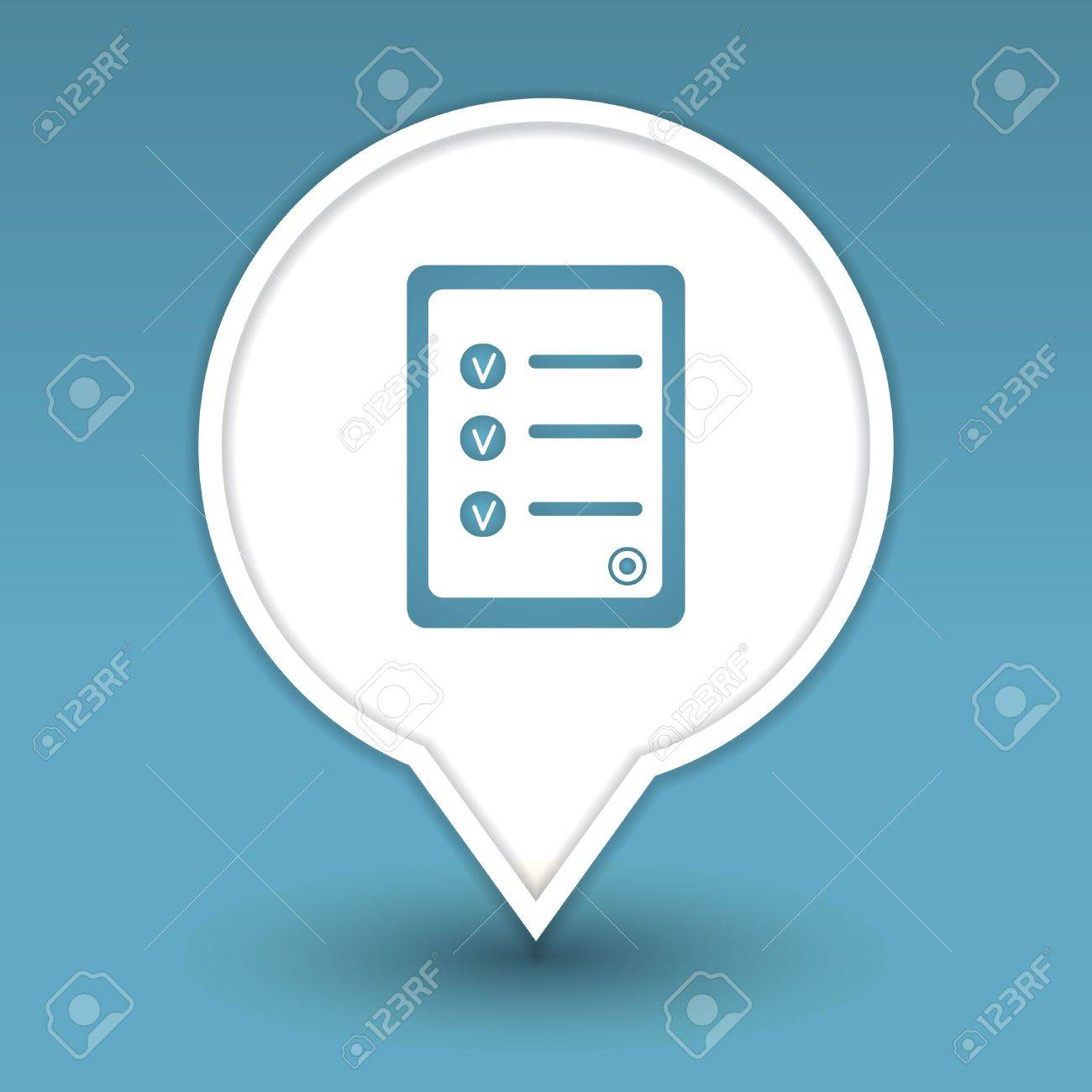 document with approved decisions list, icon for web Stock Vector - 18909008