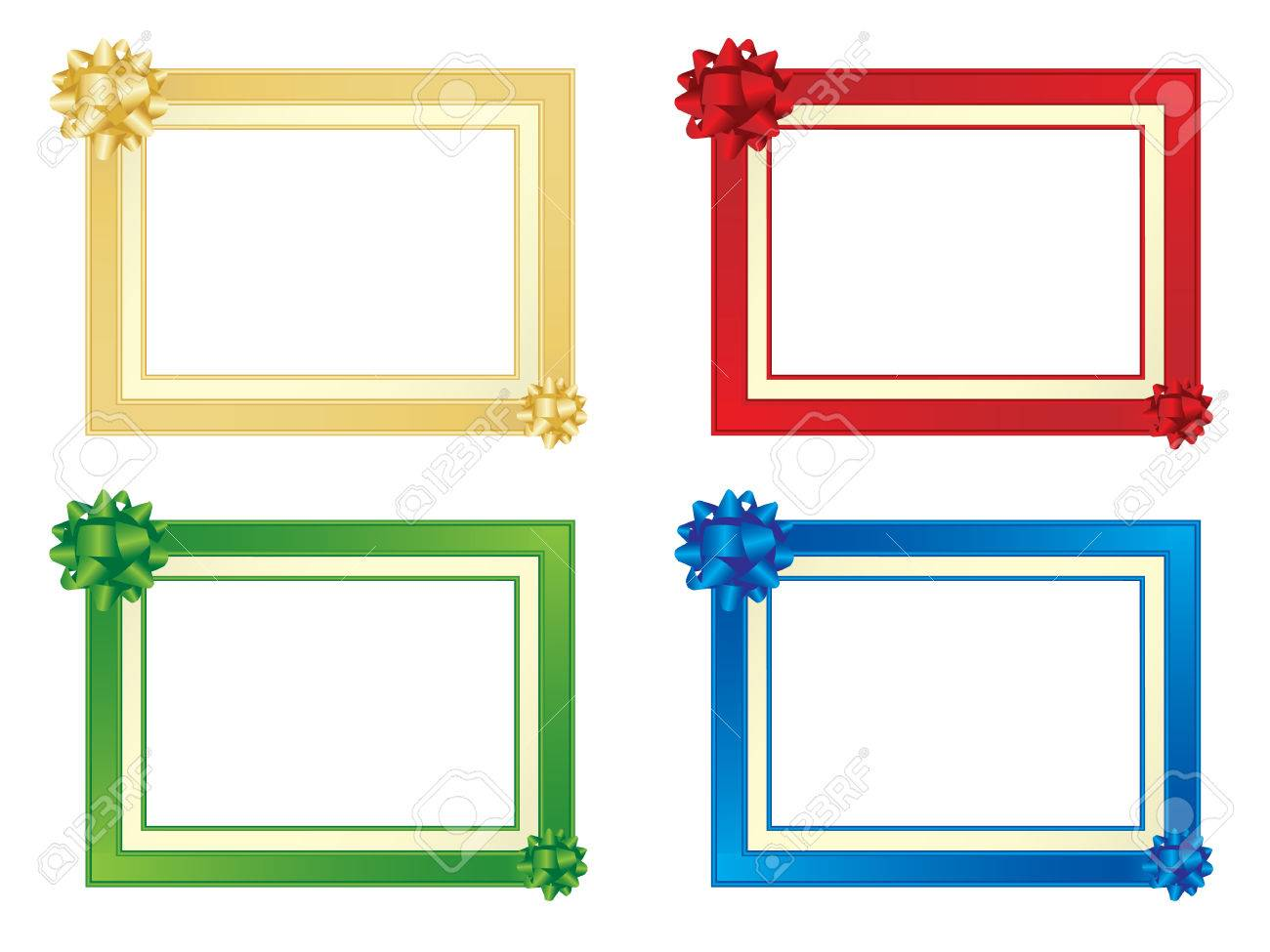Set Of Four Frames With Bows Royalty Free Cliparts, Vectors, And ...