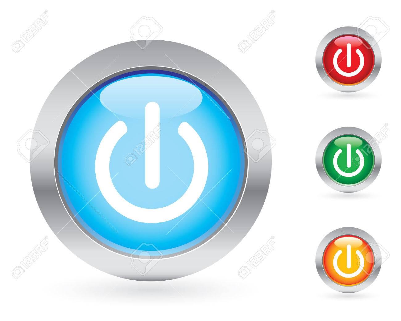 Power button set Stock Vector - 3688343