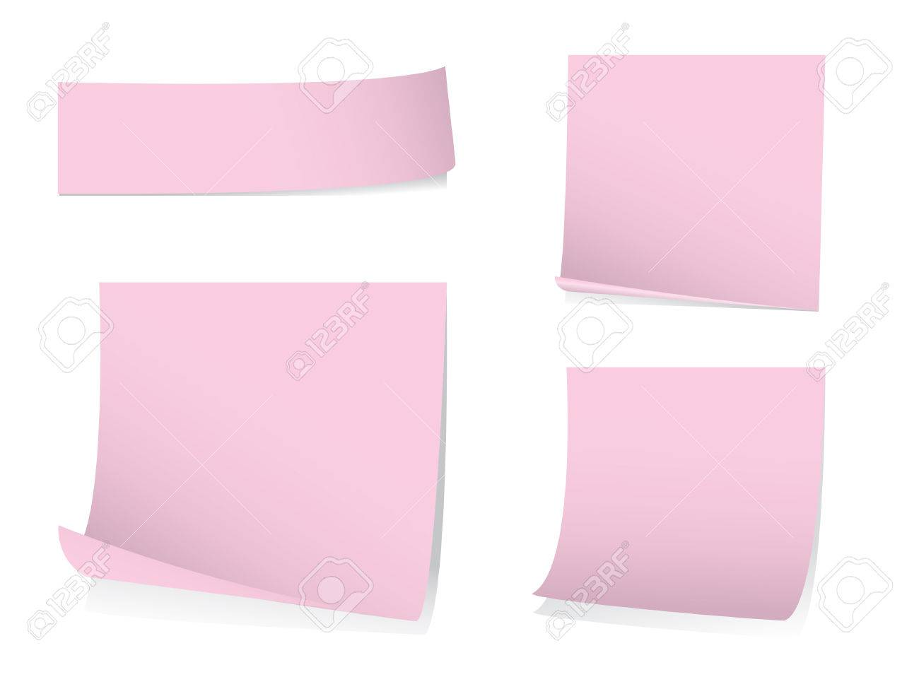Sticky memo notes with shadows Stock Vector - 3822815