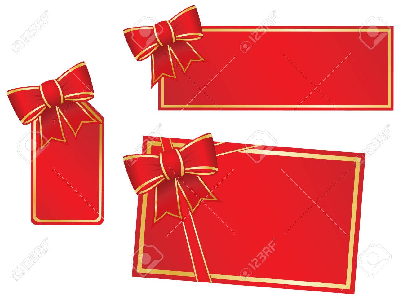 Weihnachts-Bögen Und Leere Geschenk-Karten. Lizenzfrei Nutzbare ...