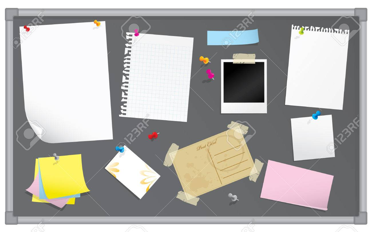 Bulletin board with stationery Stock Vector - 4295602