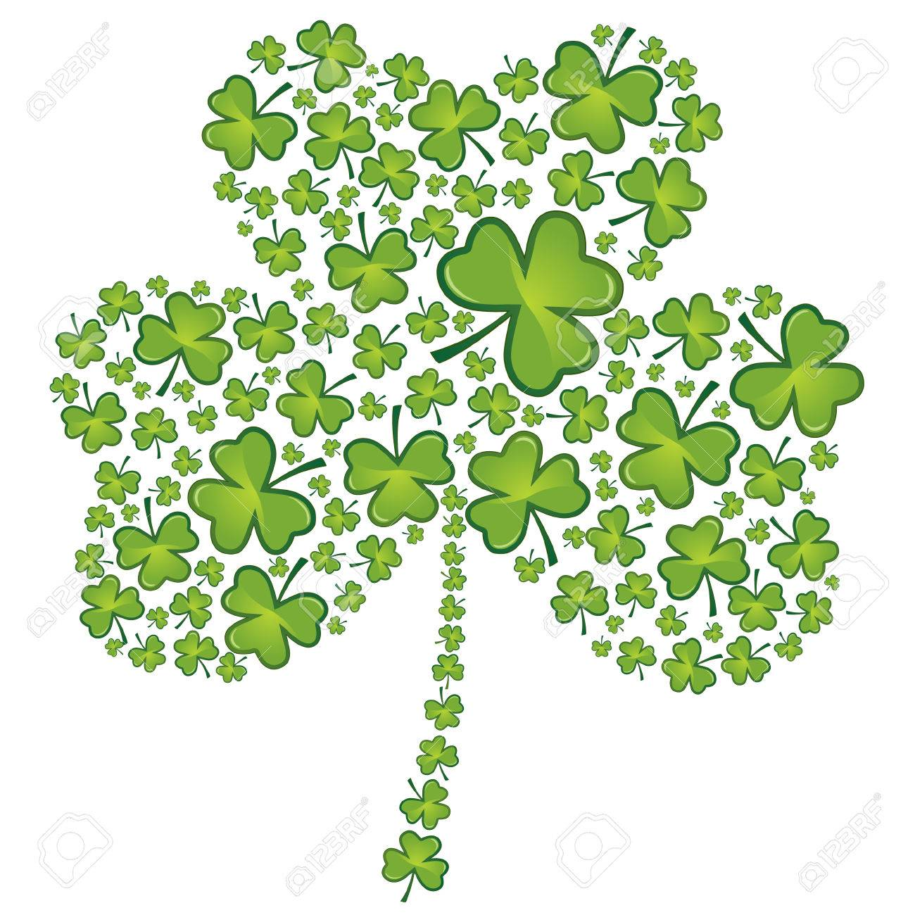 st patrick s day shamrock pattern royalty free cliparts vectors