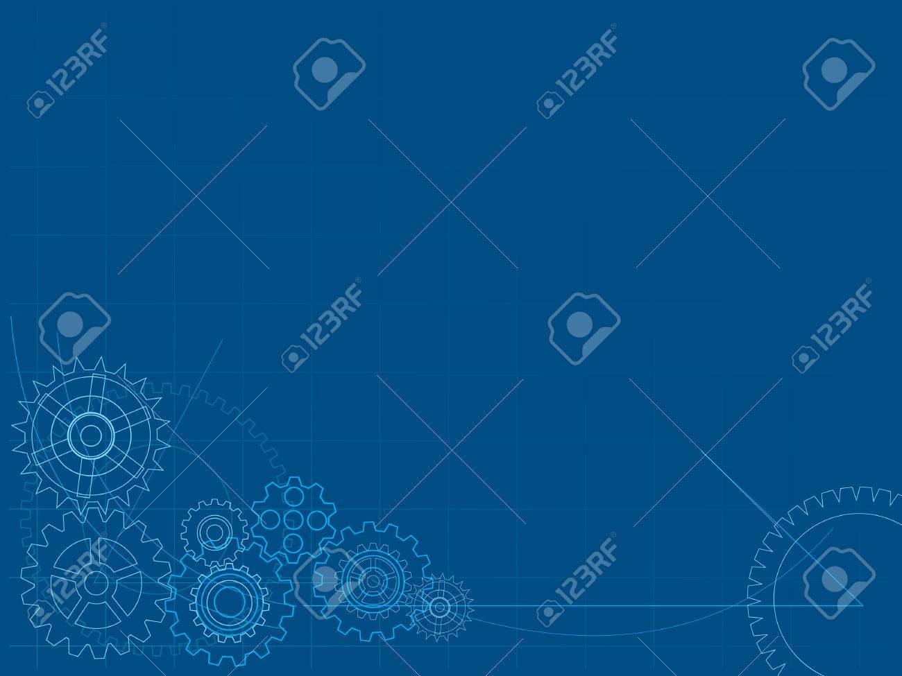 Mechanical Blueprint Background Stock Vector   4346571
