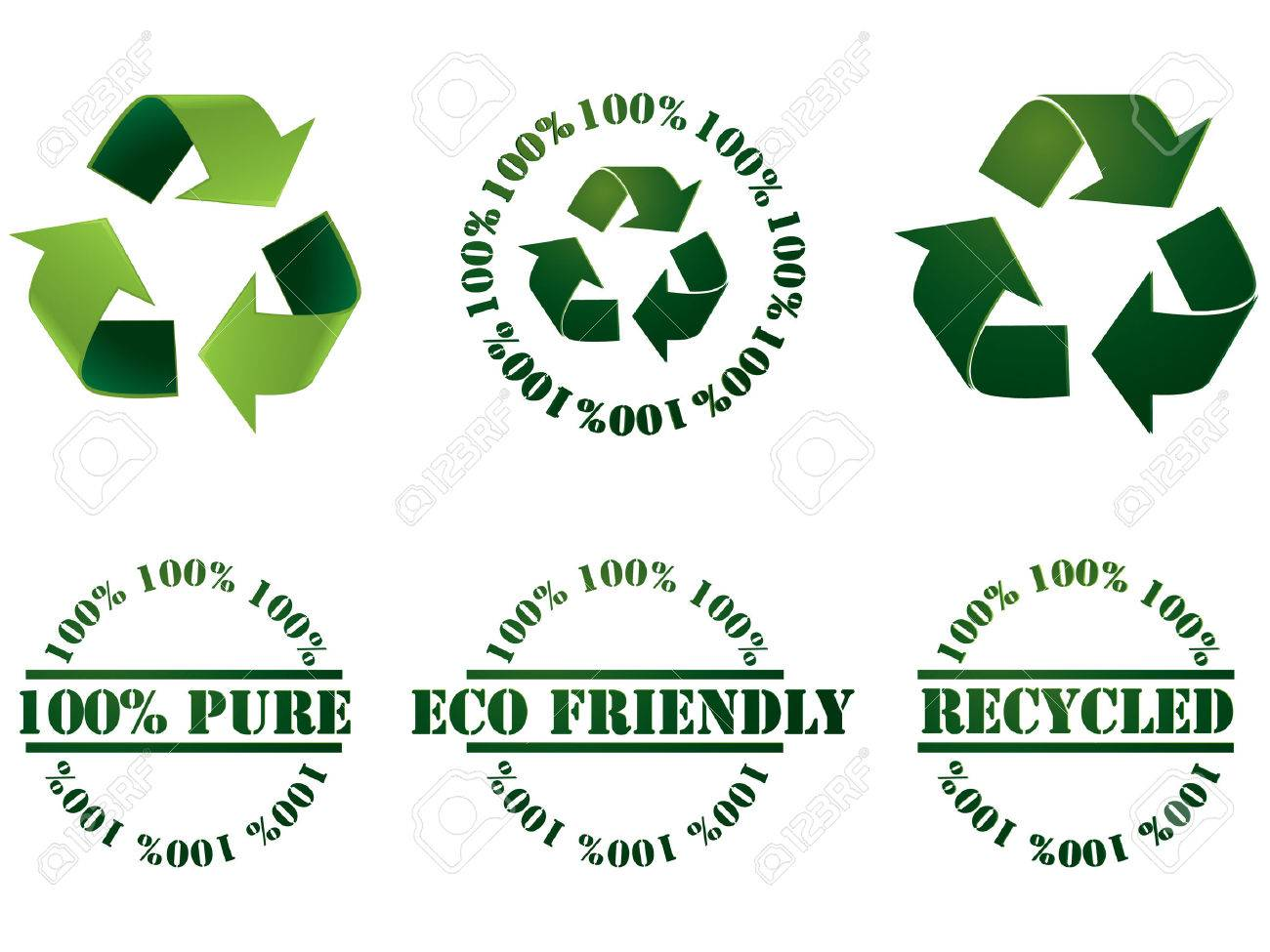 Recycle symbol and stamps Stock Vector - 4480777