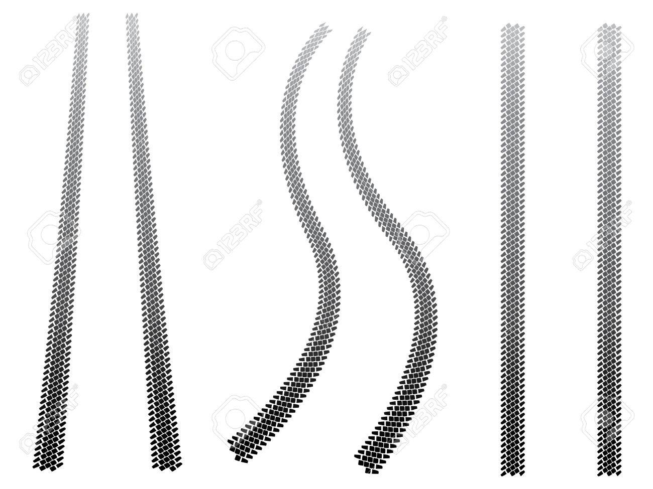 Chunky tyre tracks Stock Vector - 4530954