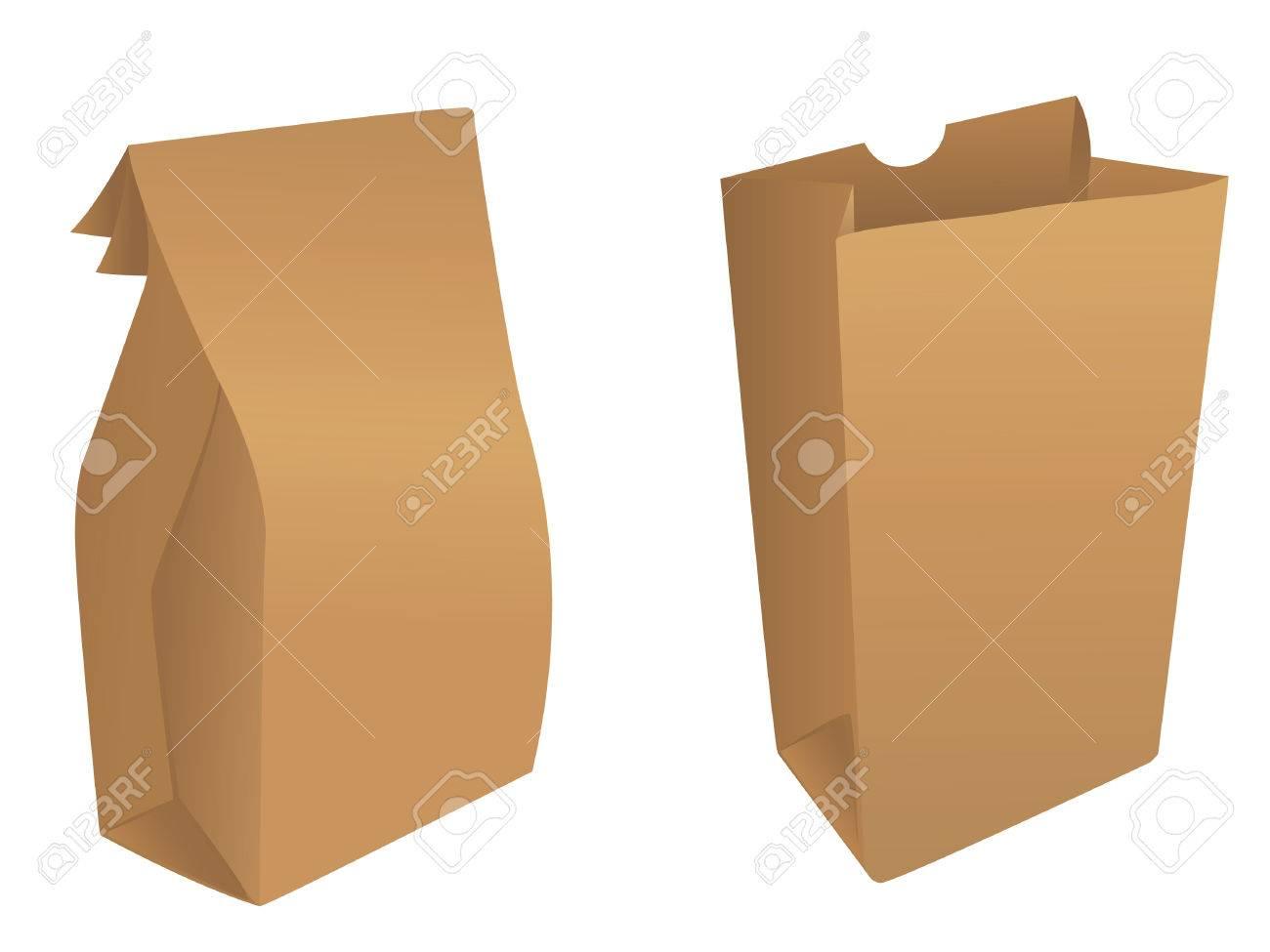 Paper bag vector - Brown Paper Bags Stock Vector 4558960