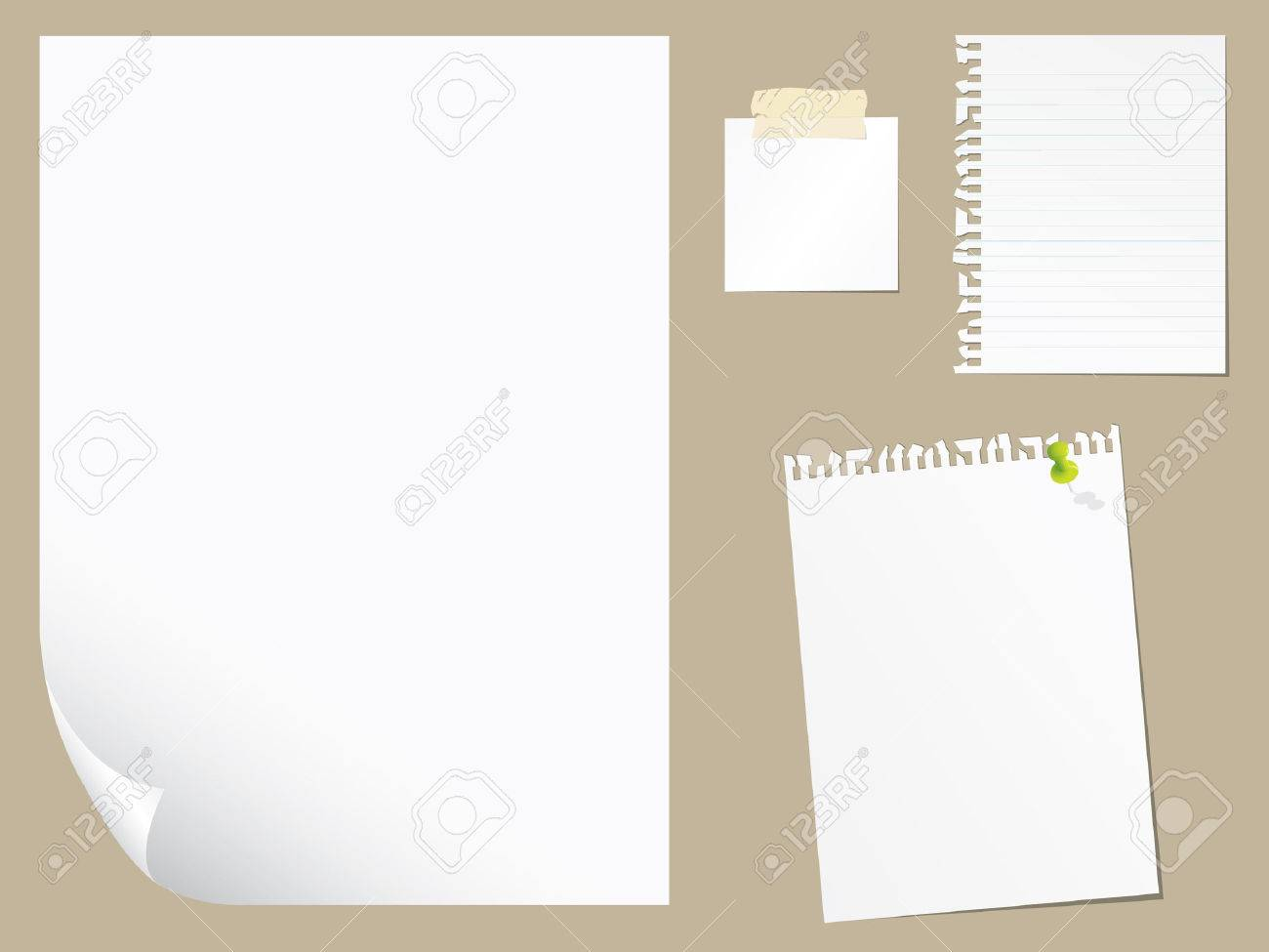 Blank paper collection - 6303111