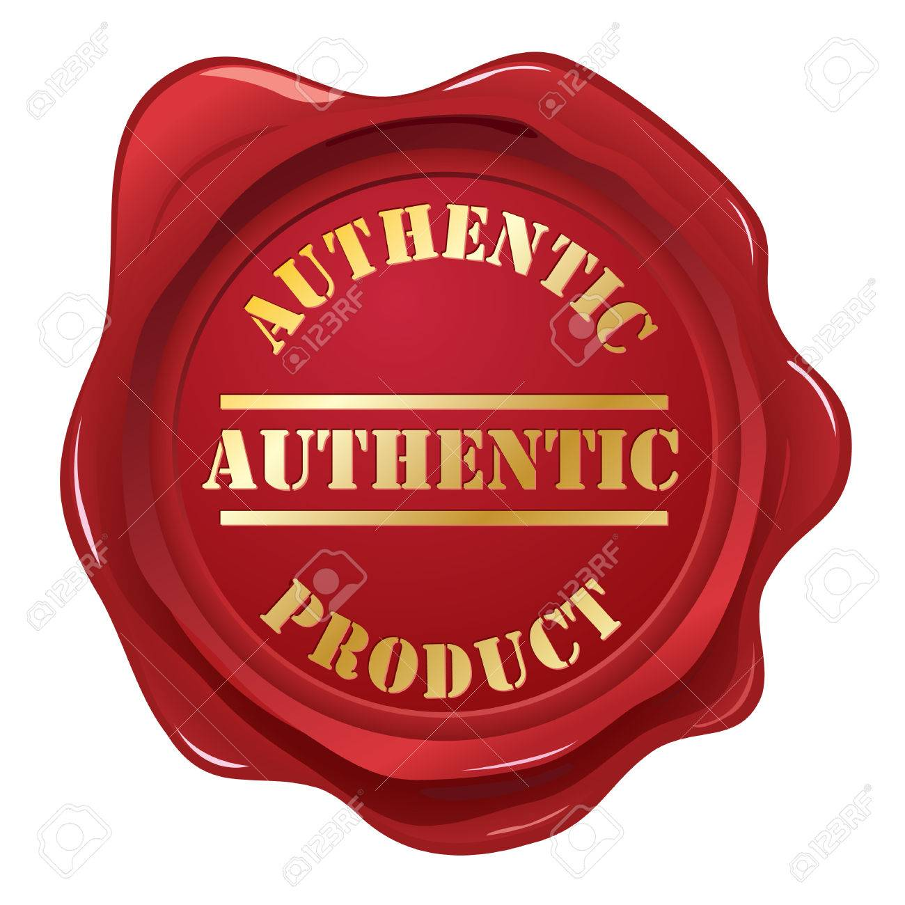 Authentic wax seal stamp Stock Vector - 6378568