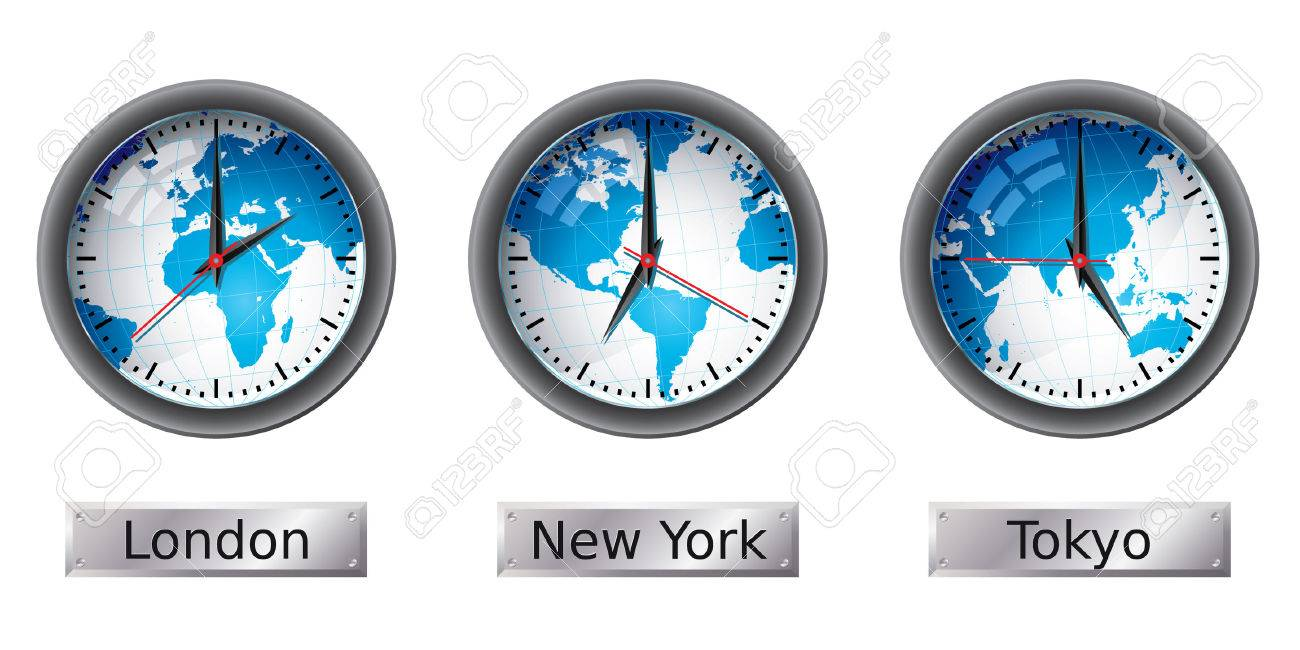 World map time zone clocks royalty free cliparts vectors and stock vector world map time zone clocks gumiabroncs Gallery