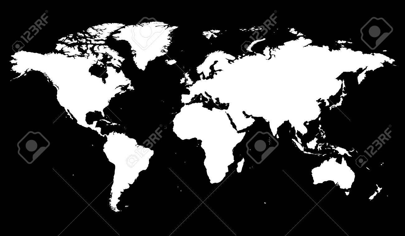 World map illustration Stock Vector - 6460432
